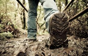 LNT原則2 ぬかっている登山道の歩き方